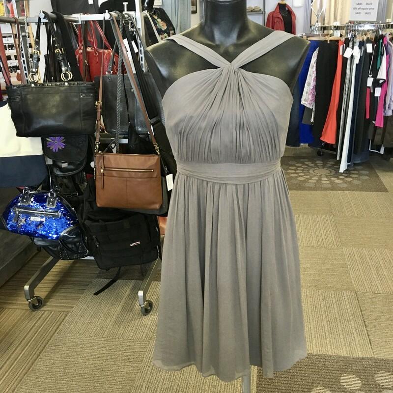 J. Crew Silk Dress, Colour: Grey, Size: 4, Perfect for a garden party