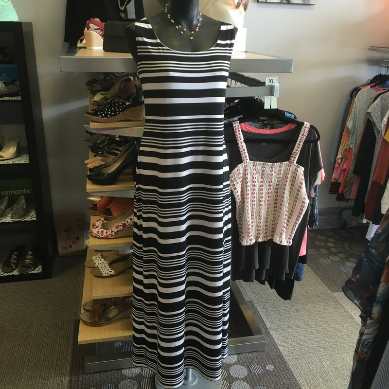Jessica Howard Maxi Lined, Colour: Black and white stripe, Size: XLarge