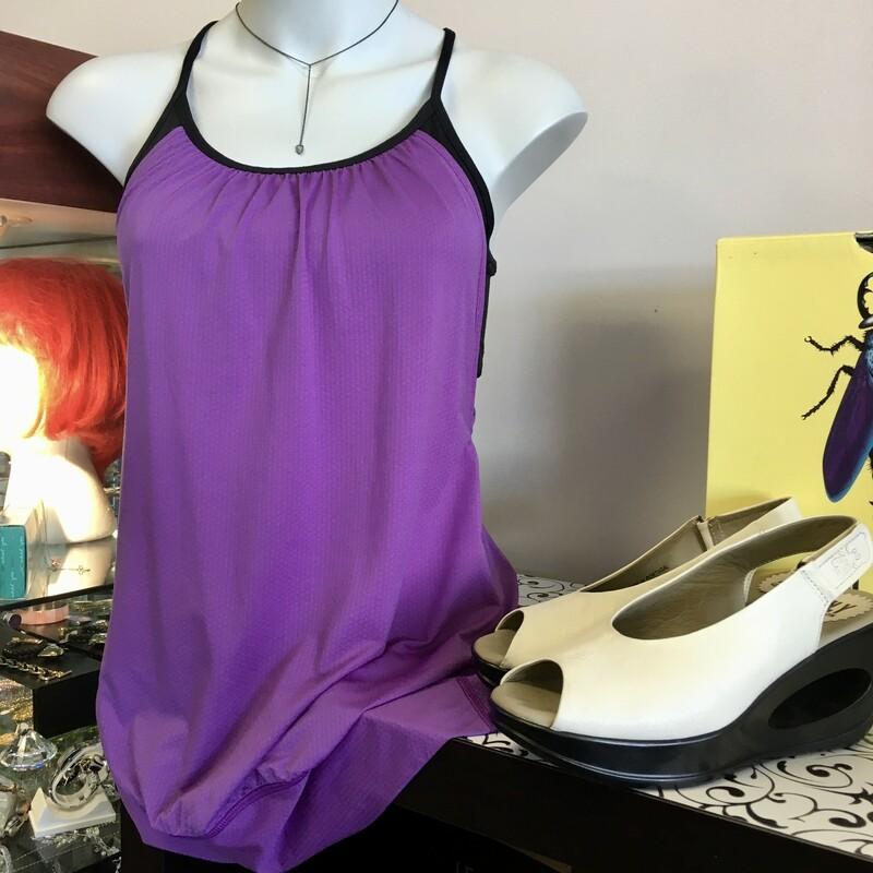 Lululemon Top, Colour: Purple, Size: 6 Longer, semi fitted overlayer,