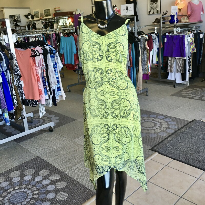 Maurices Dress, Colour: Neon yellow and blue, Size: XLarge, Fully lined