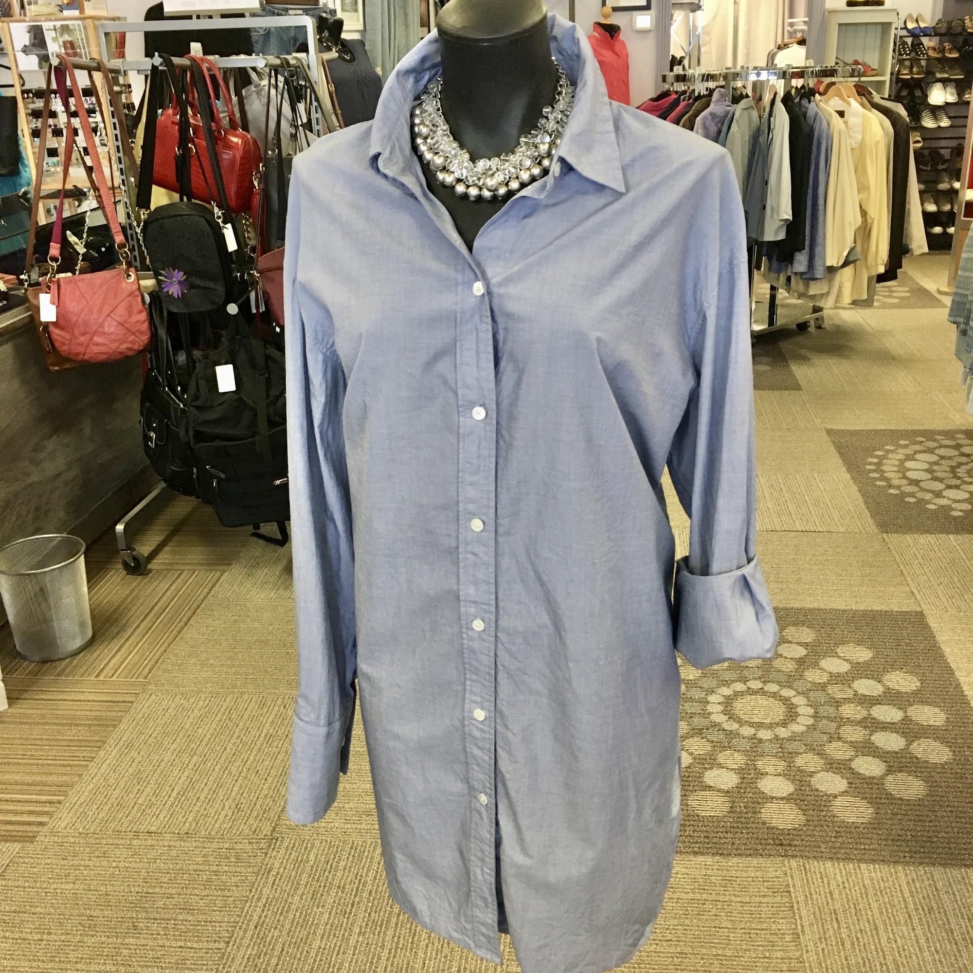 Babaton Long Blouse,<br /> Colour: Light Blue,<br /> Size: XXLarge,<br /> Material: 100% cotton