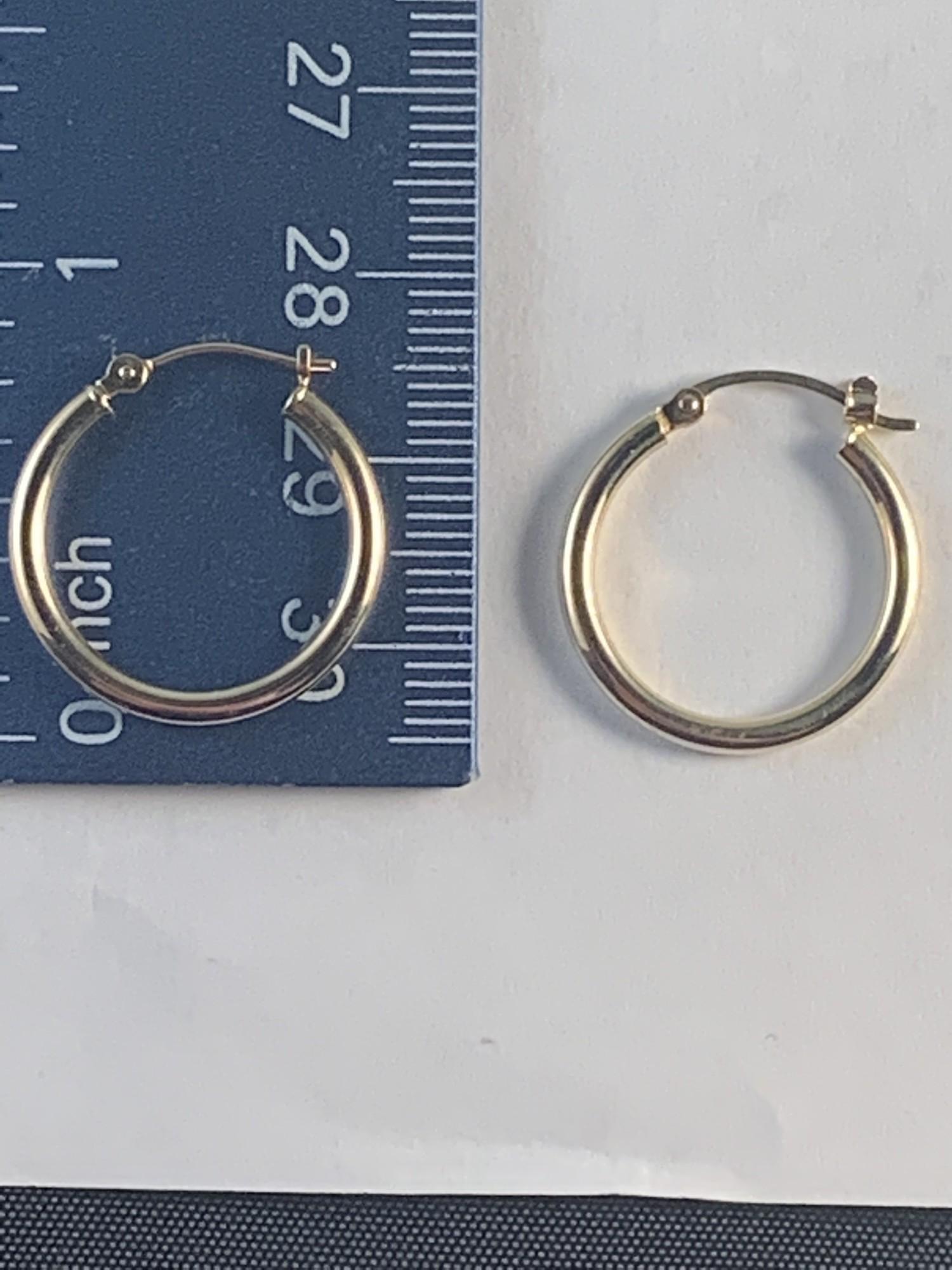 Hoop Earrings  2mm Tube<br /> 14 Karat Yellow Gold<br /> $120
