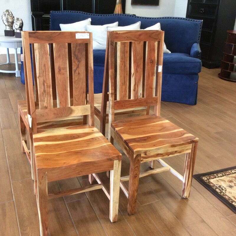 Made of Mangowood, this is a handsome set! Solid and well-made, this set would be perfect in a room with a rustic or farmhouse decorative style.