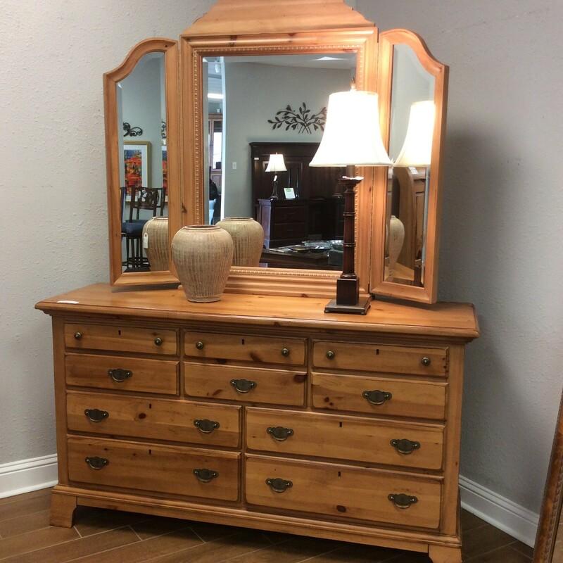 Pine Dresser W/ Mirror