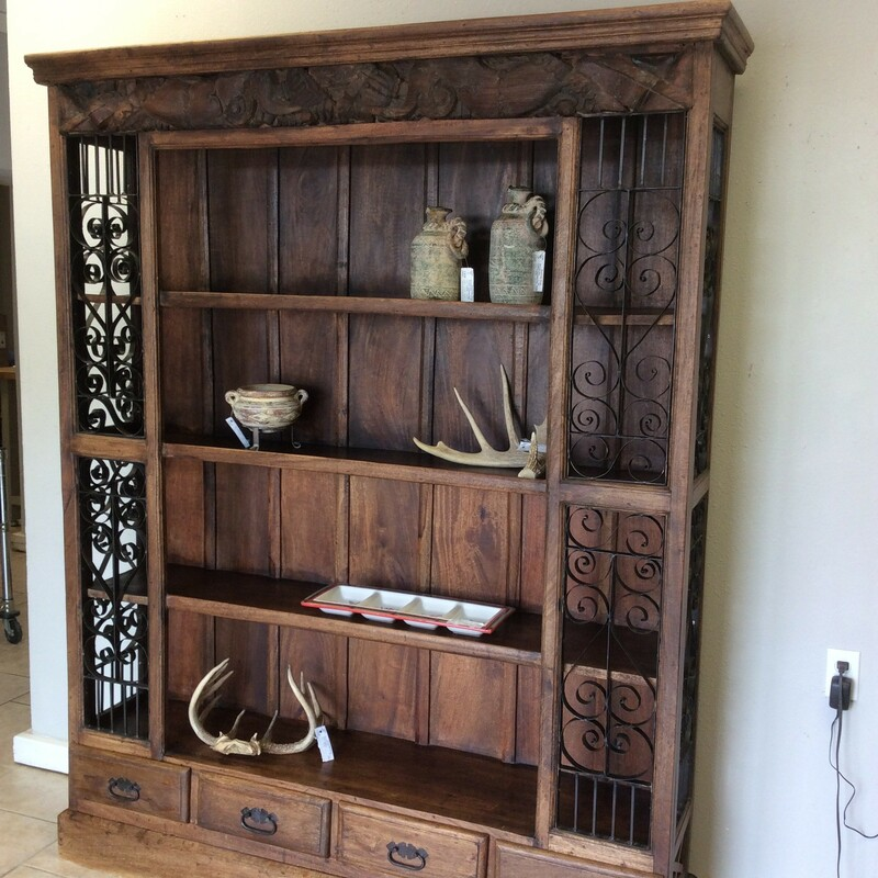 CarvedWd/Iron Bookcase