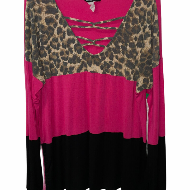 Pink And Leopard Long Sle