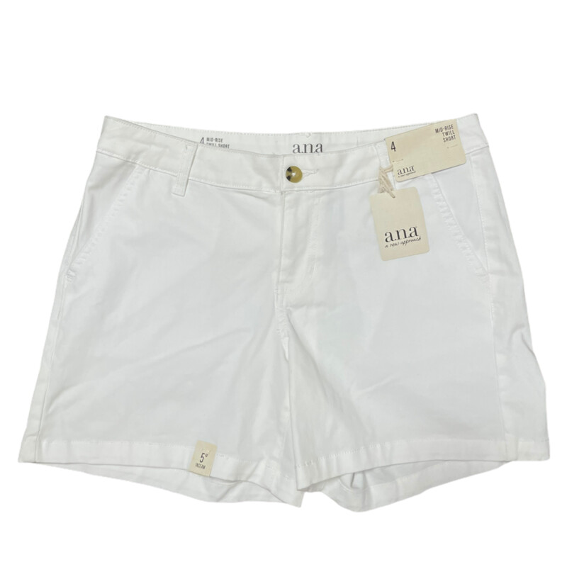 NWT White Ana Shorts
