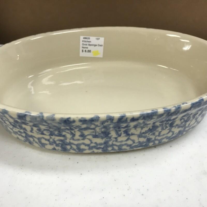 Oval Sponge Dish