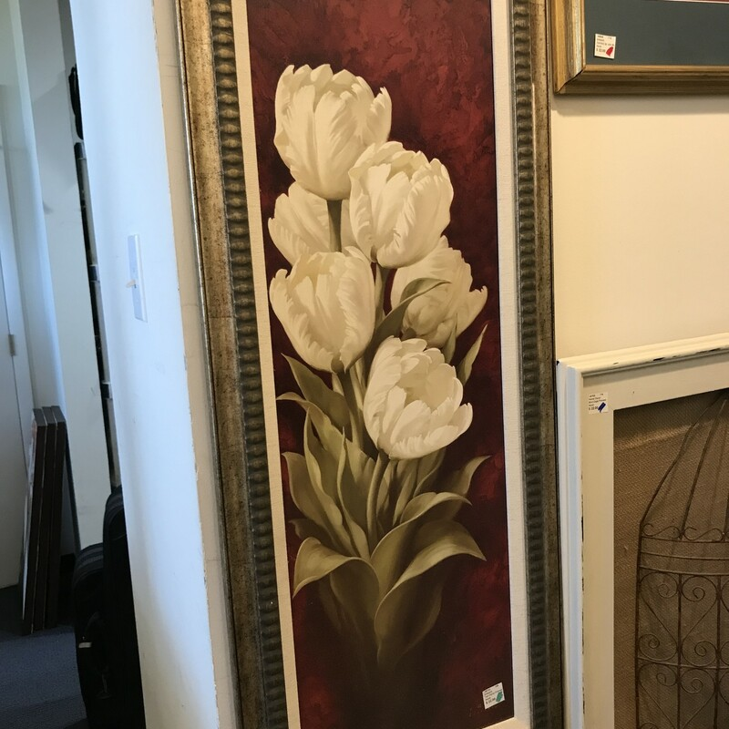 Tall Floral Framed Art