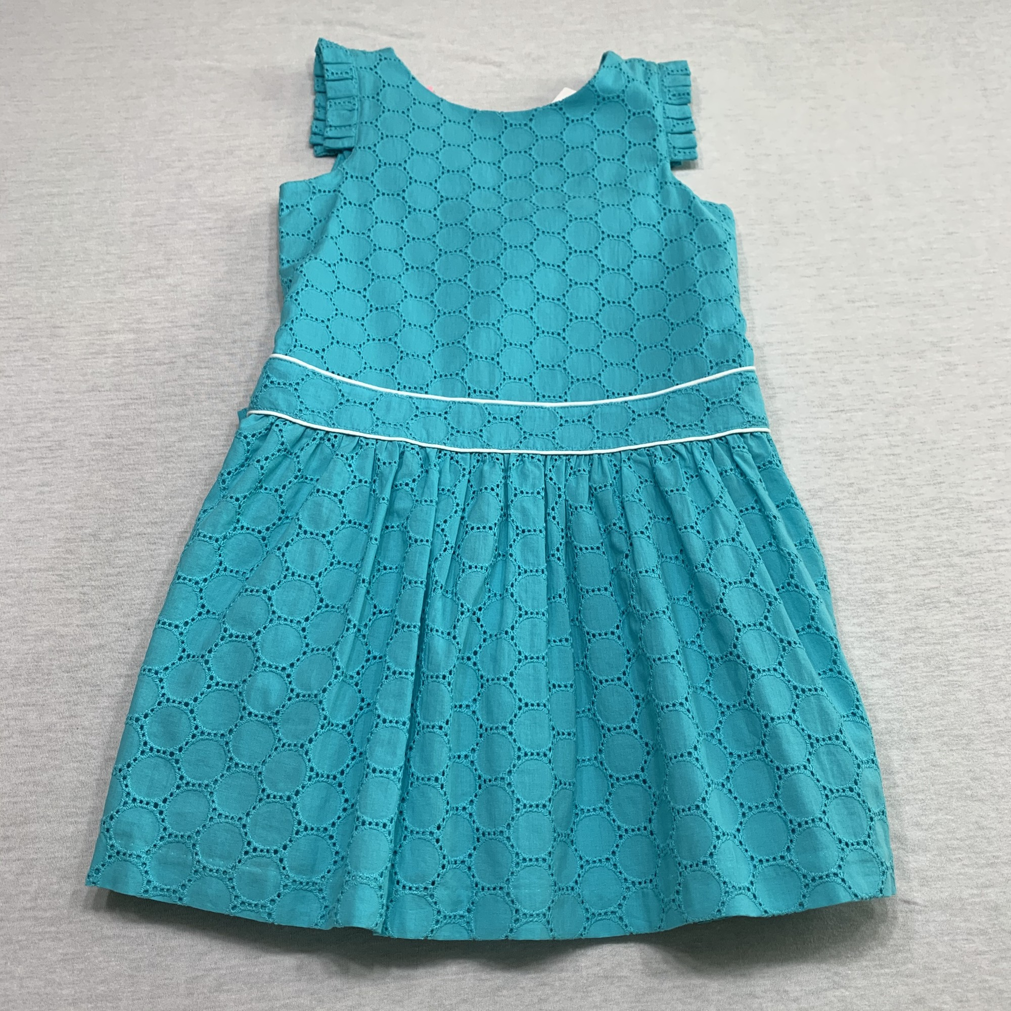 NWT Eyelet dress with criss-cross back & full lining