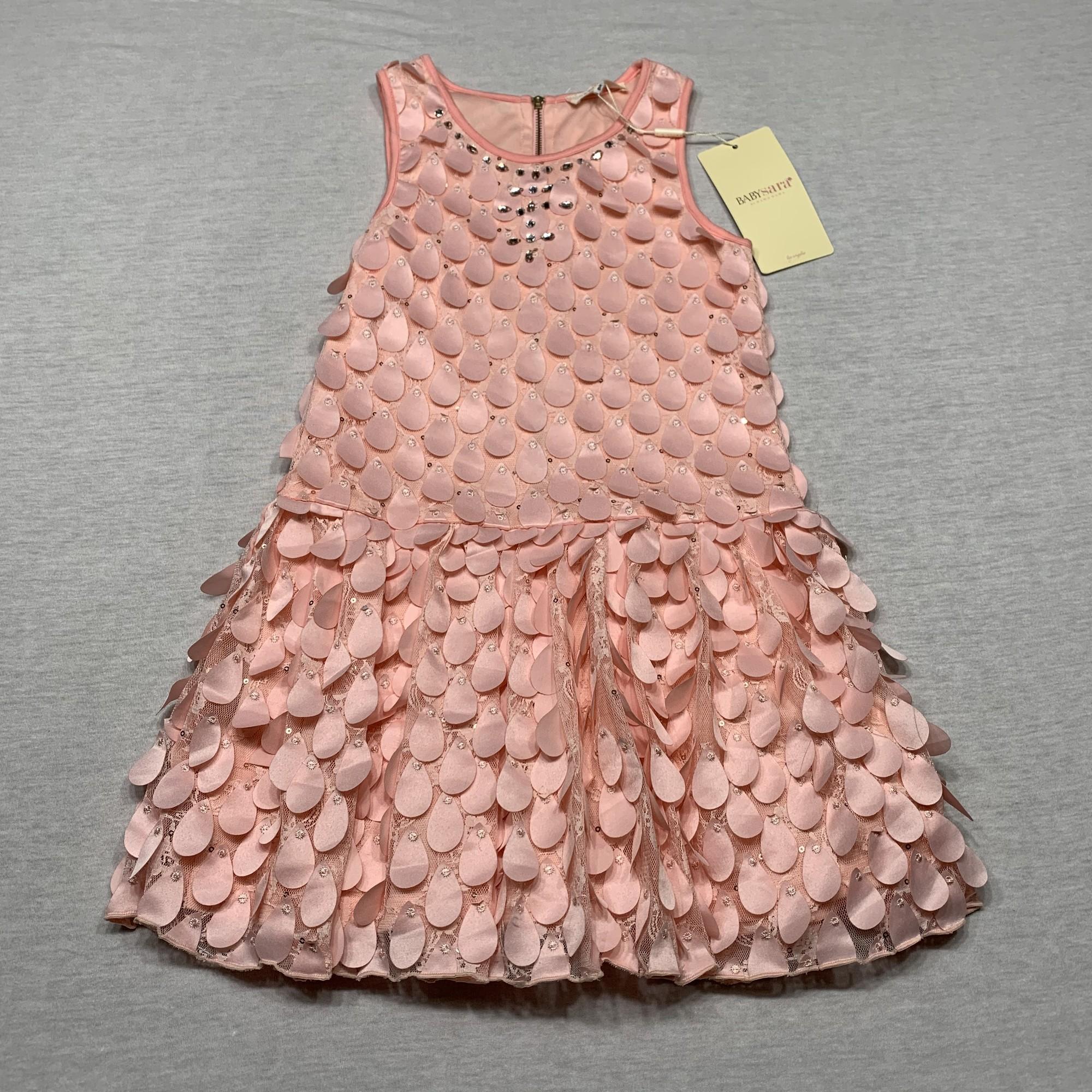 NWT Embellished, drop waist, lace dress
