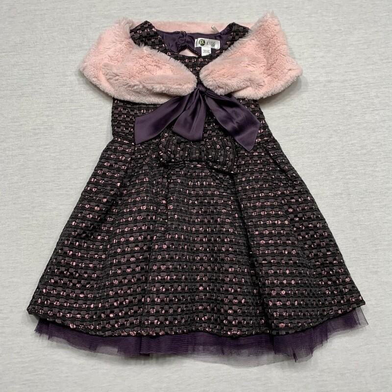 Dress & Fur Wrap