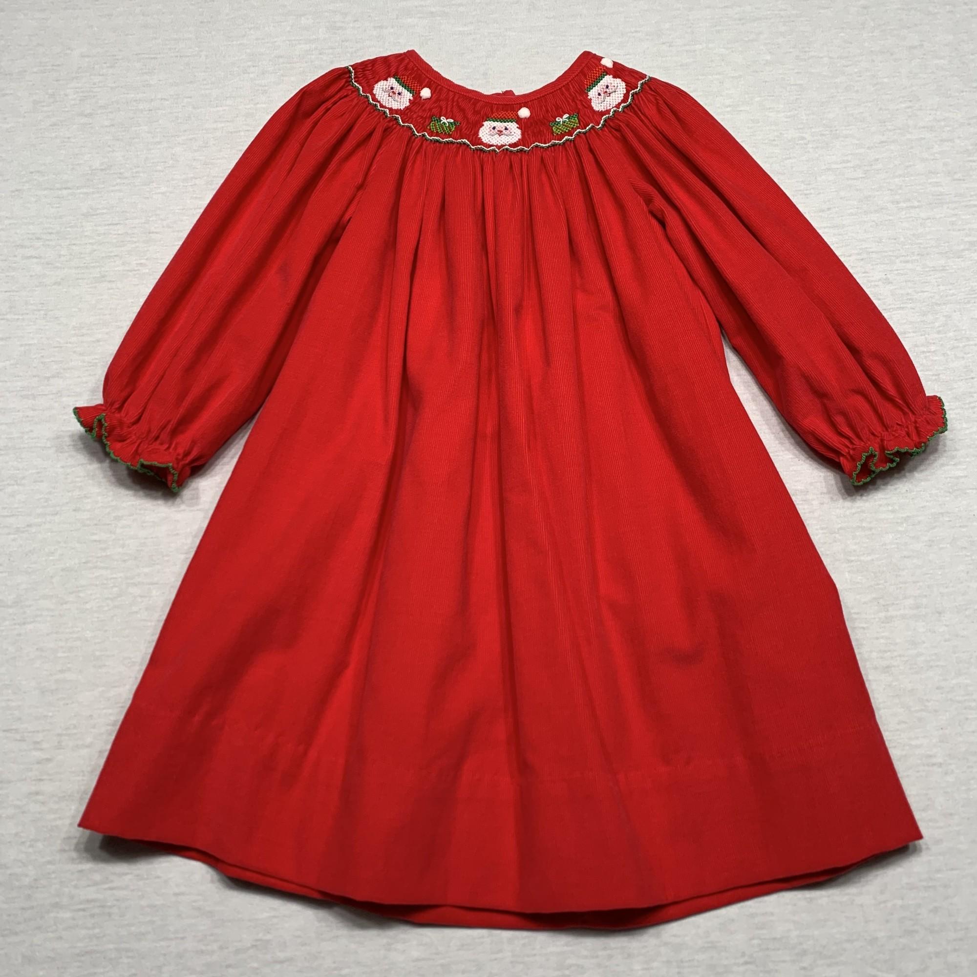 Bishop style corduroy smocked dress