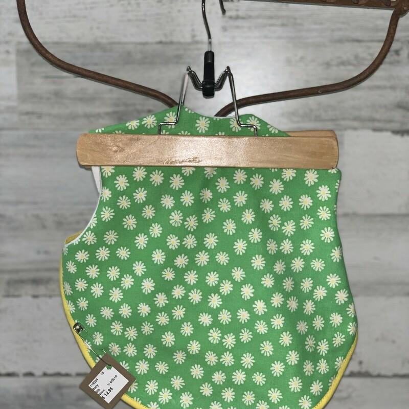Green Daisy Bib