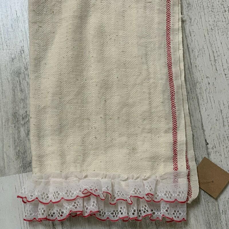 Tea Towel W/ Red&White La