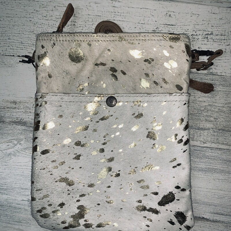 Speckled Leather Crossbod