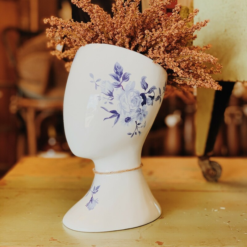 Such a unique vase, and it is so beautiful paired with any florals you can find here at Resurrect!