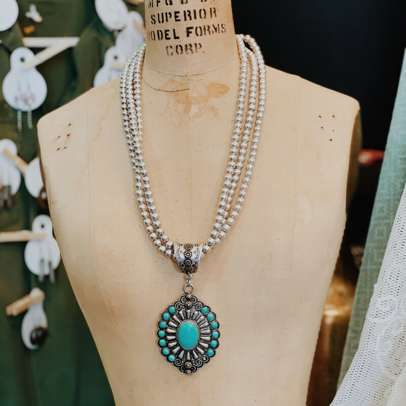 Silver & Turquoise Neckla