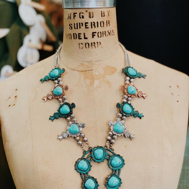 Antiqued Metal Turquoise