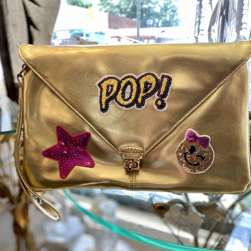 Vintage Gold Clutch Up-cy