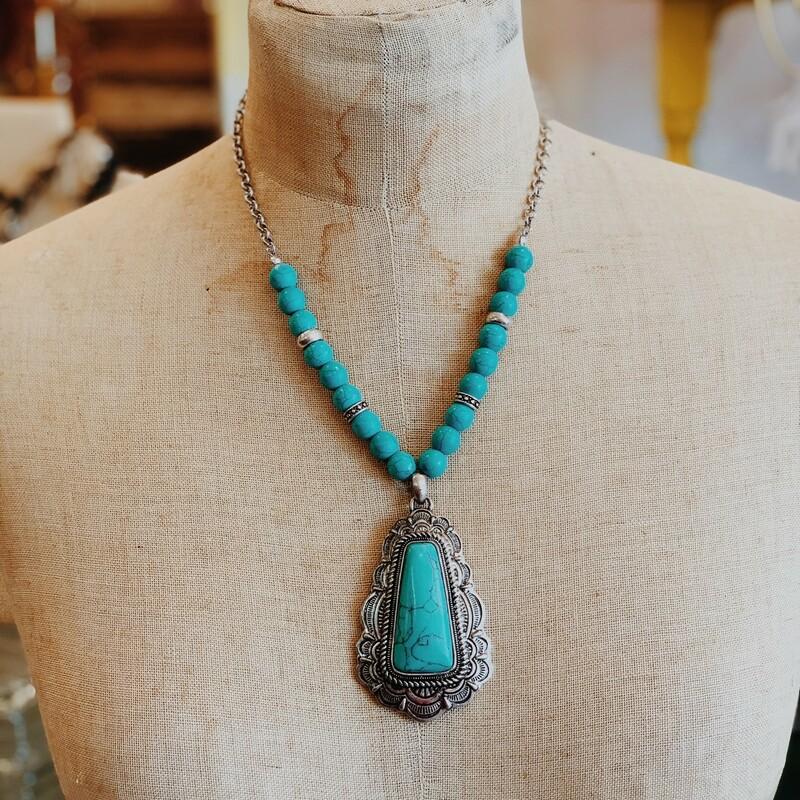 Boho Turquoise Necklace