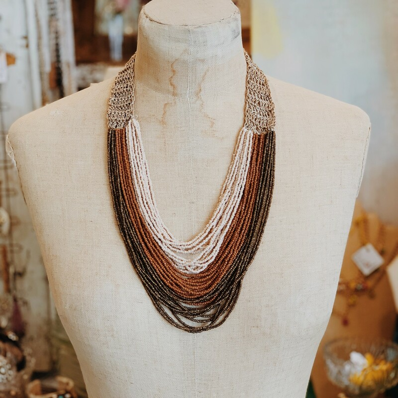 Earth Tone Bead Necklace