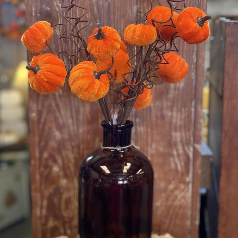Gorgeous Orange Velvet stem 21inches in length