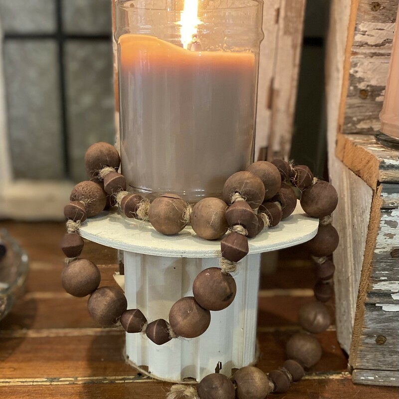 Lg Natural Wooden Beads