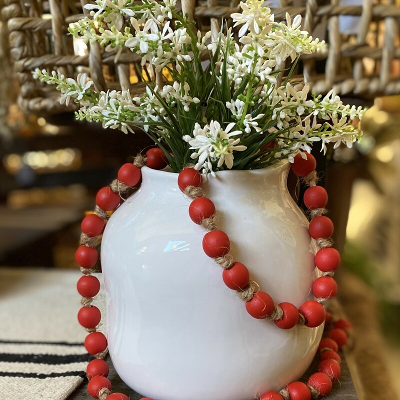 Red Wooden Bead