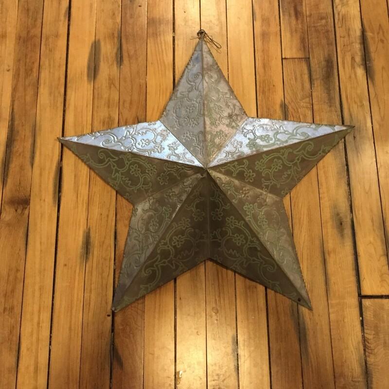 VINTAGE TURQ SCROLL STAR