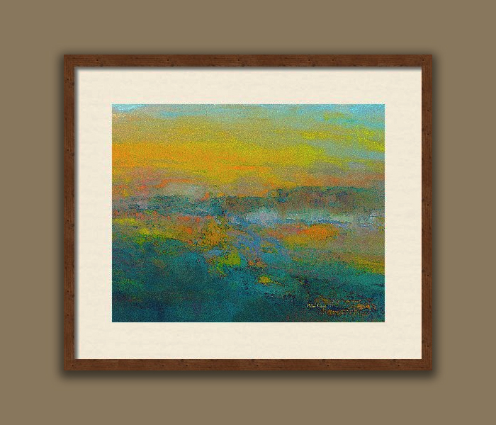 """IMAGINATION 79<br /> <br /> Signed Print..Bronze custom frame with white matting<br /> <br /> 16"""" x  20""""<br /> <br /> INSTORE PICK-UP OR SHIPPING"""