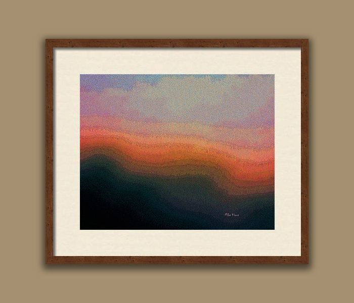 """IMAGINATION  739<br /> <br /> Signed Print..Bronze custom frame with white matting<br /> <br /> 16"""" x  20""""<br /> <br /> INSTORE PICK-UP OR SHIPPING"""