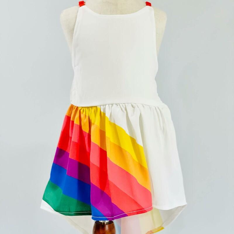 Rainbow Dress Red Strap