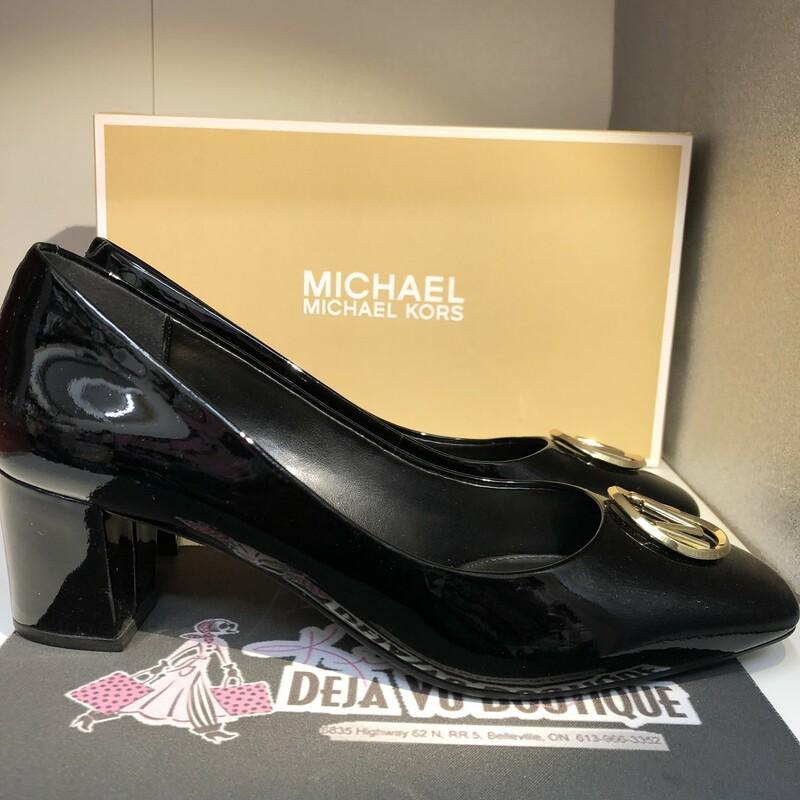 Patent Leather Block Heel
