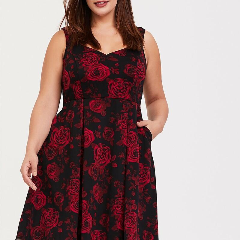 $89 Floral Scuba Dress