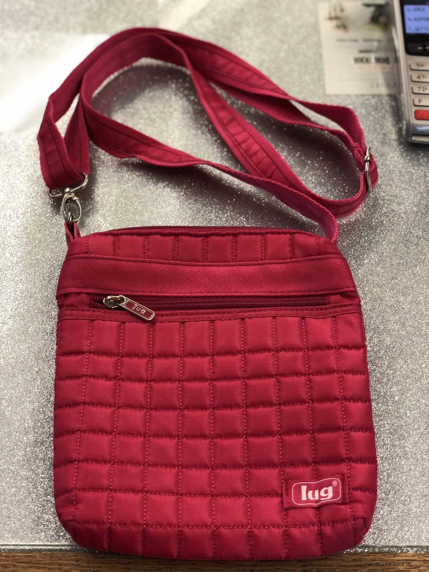 Small Quilted Crossbody, Pink, in Great preloved condition