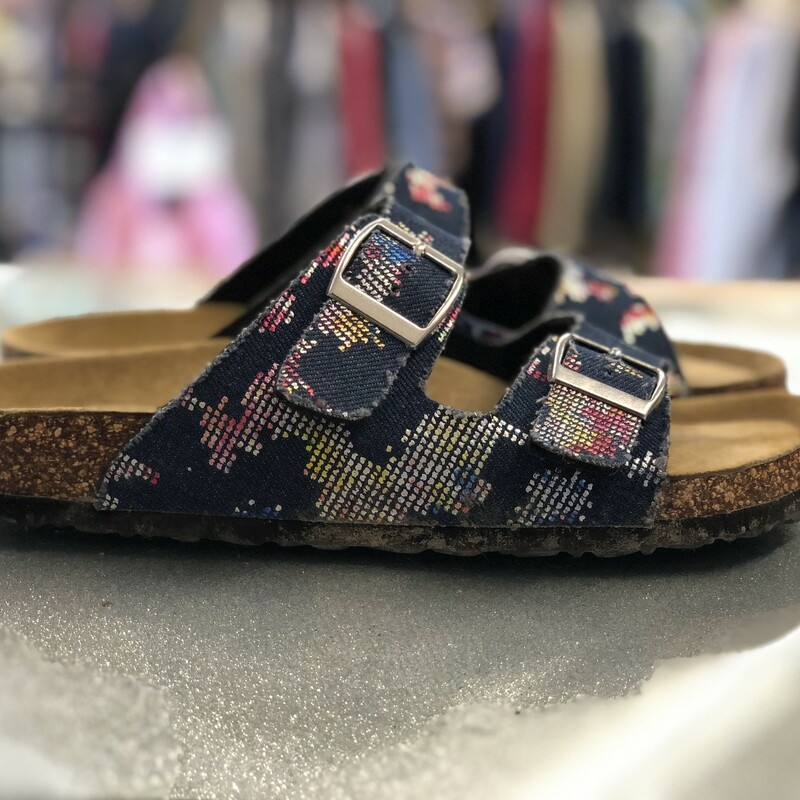 Denim Strap Sandals