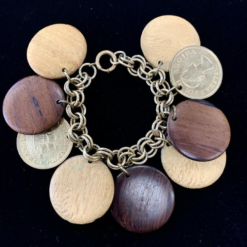 S. African Coin Bracelet