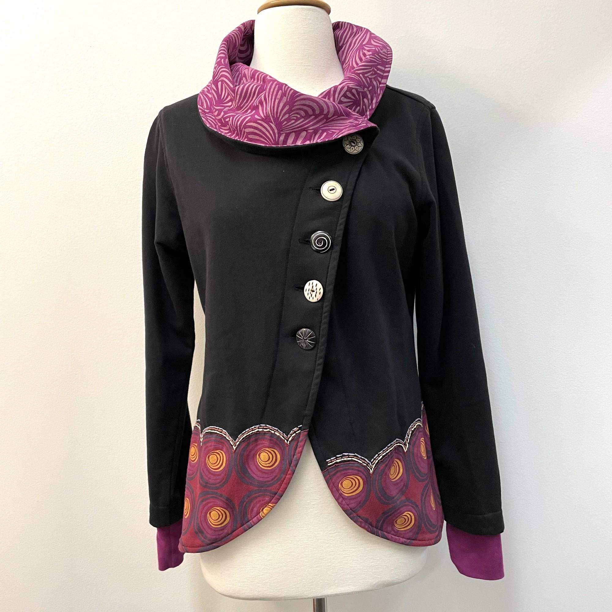 Adriamode Jacket<br /> Black, Purple, and Orange<br /> Size: Small