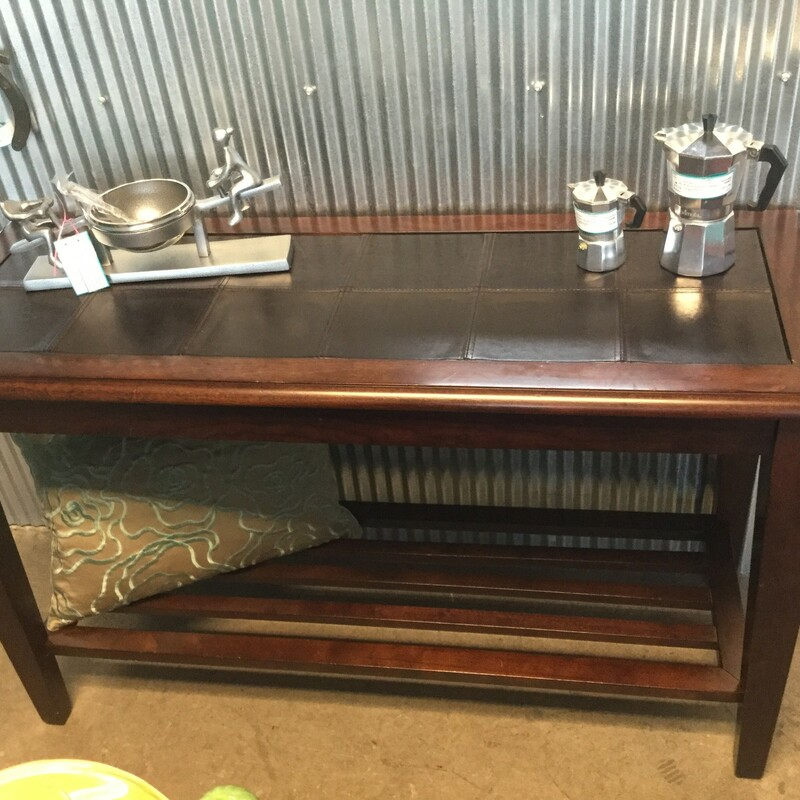 Leather Top Console