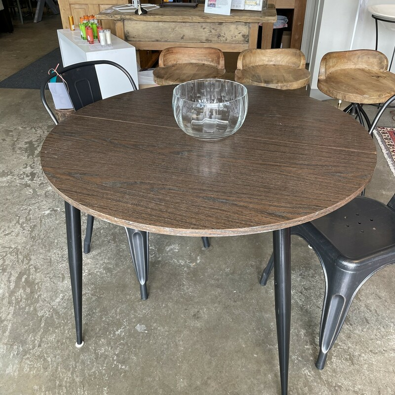 Vintage Dining Table-Roun, 1970s, Size: 42x29