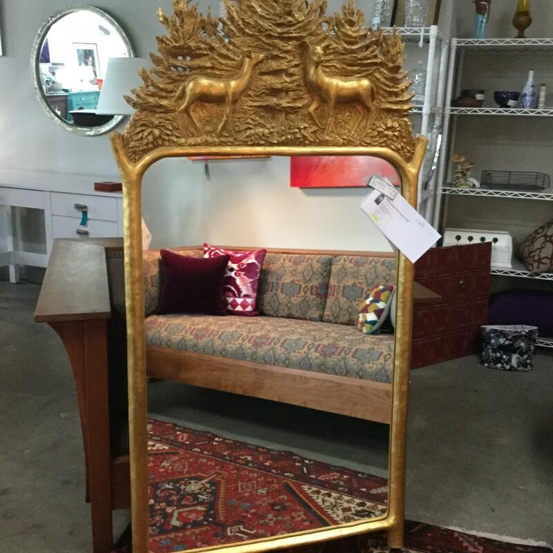 Gold Deer Mirror