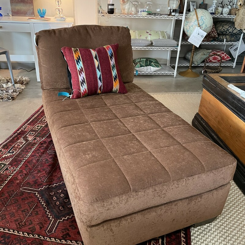 BrownFabric Chaise