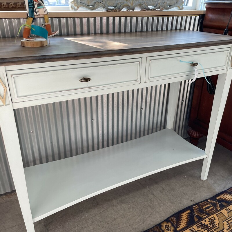 Painted Console, WoodTop, Size: 40.16.30