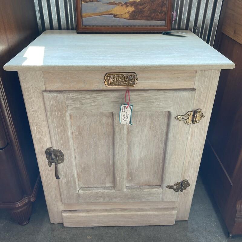 Painted Fridge End Table