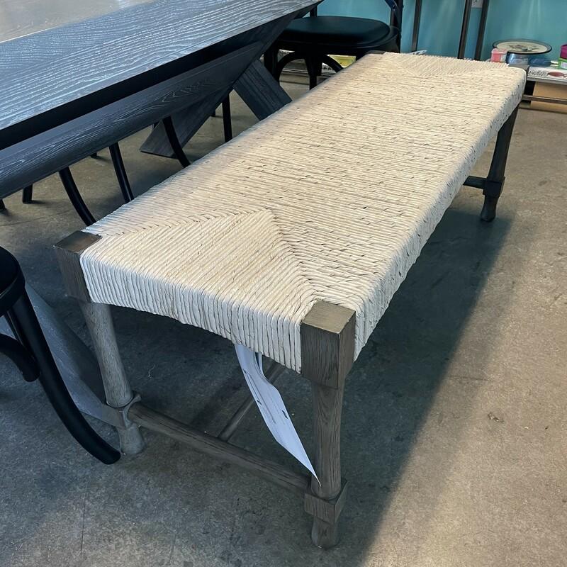 HWHome Palma Bench, LtGreyWa, Size: 50.18.18