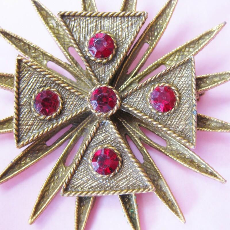 Ruby Maltese Cross