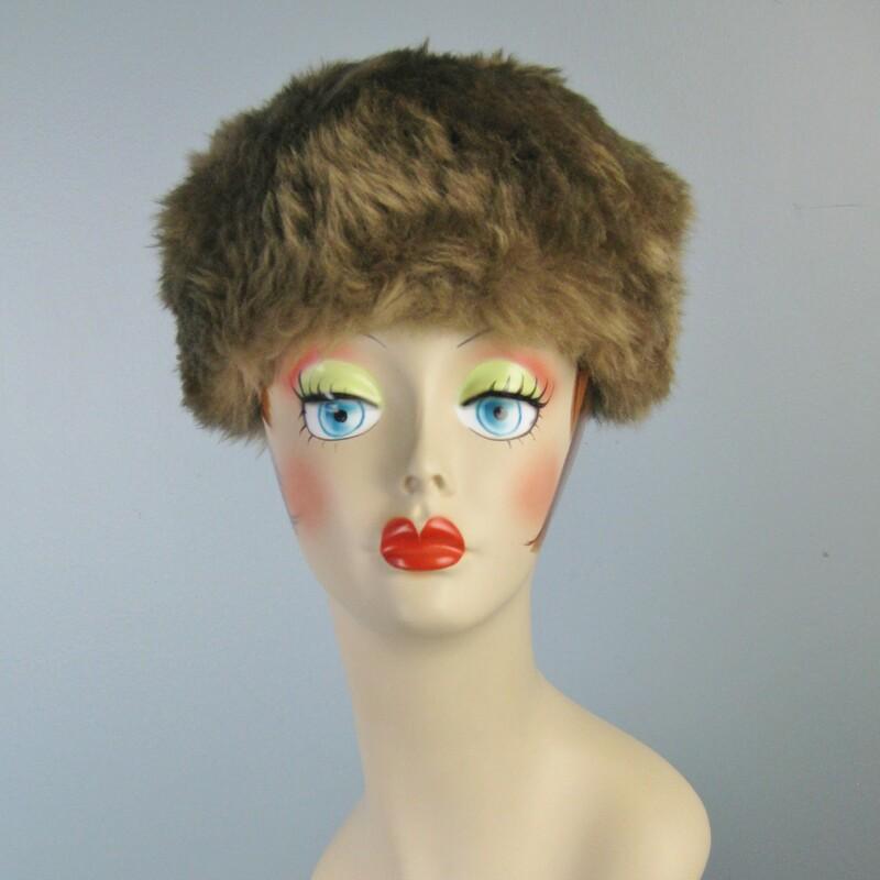 Vtg Shearling Hat
