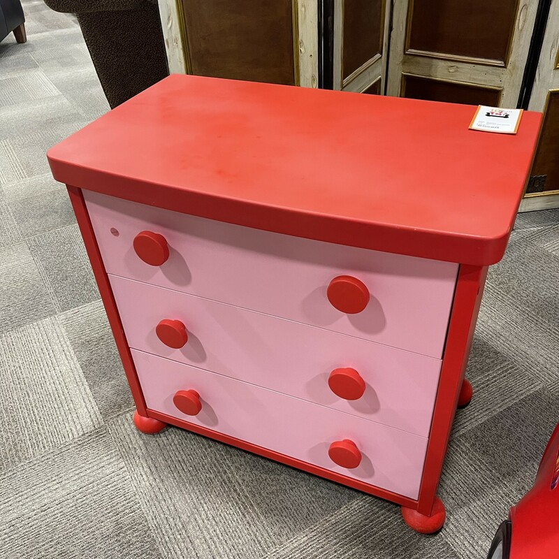 Childrens Red Dresser