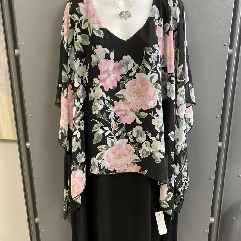 Dress Flower Print Ovrlay
